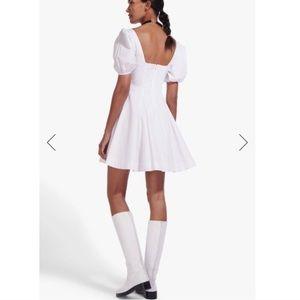 STAUD Laelia White Mini Dress